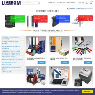 ArchiveBay.com - liverom.ro - birotica,papetarie,producator,distributie,articole birou,hartie,scris,accesorii,produse
