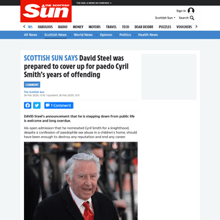 David Steel was prepared to cover up for paedo Cyril Smith's years of offending – The Scottish Sun