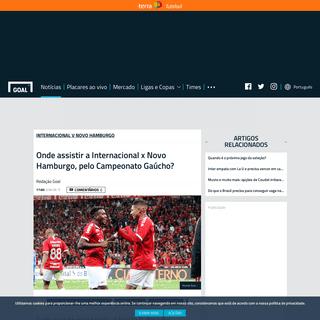 Onde assistir a Internacional x Novo Hamburgo, pelo Campeonato Gaúcho- - Goal.com