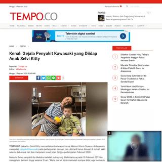 Kenali Gejala Penyakit Kawasaki yang Diidap Anak Selvi Kitty - Cantik Tempo.co