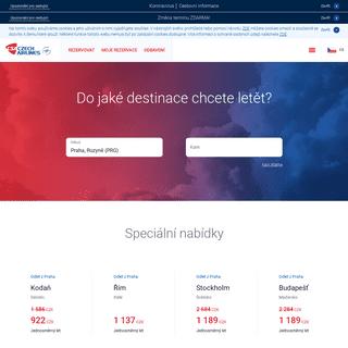 České aerolinie - Moderní letecká společnost s více než devadesátiletou tradicí