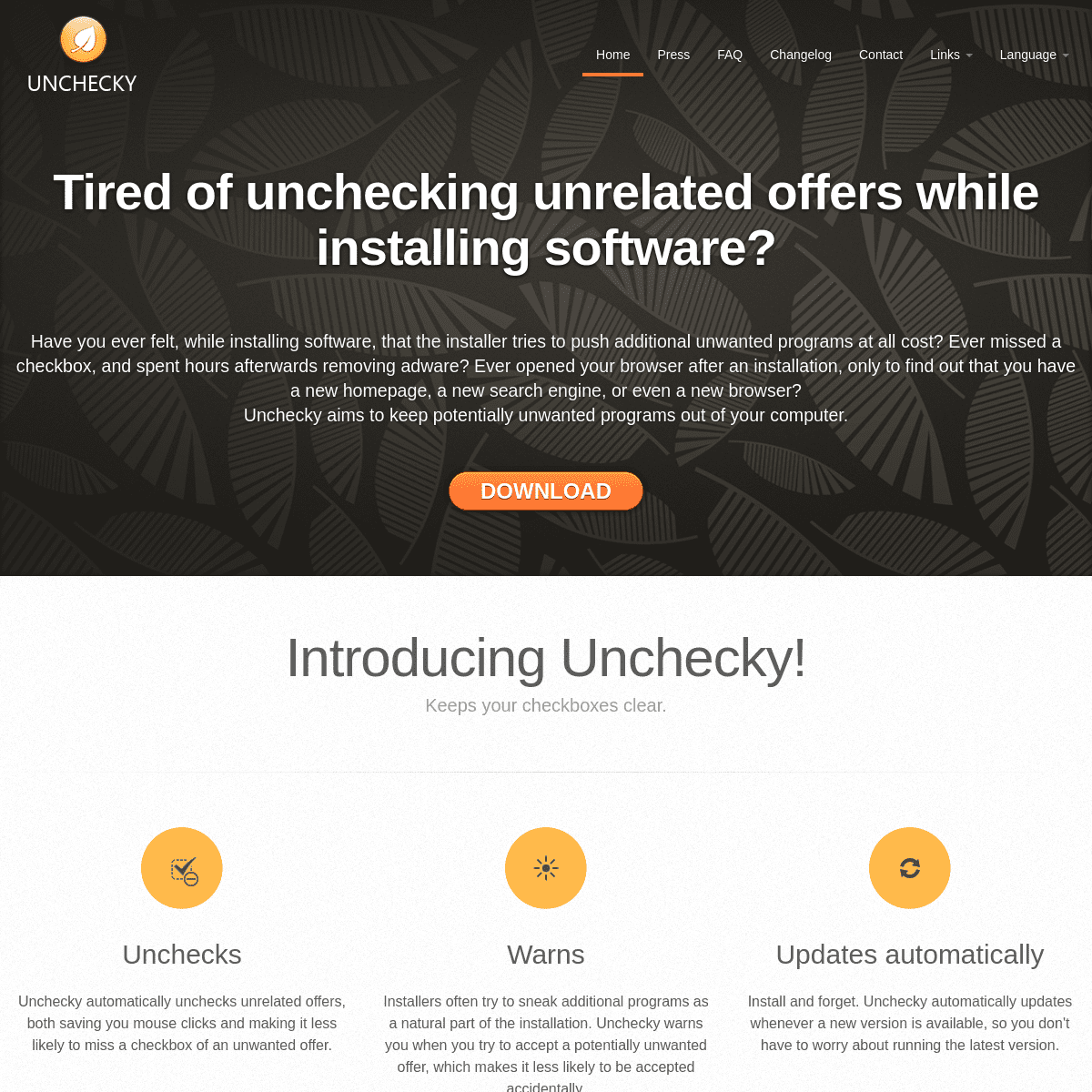 Unchecky - Keeps your checkboxes clear