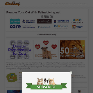 Pamper Your Cat With FelineLiving.net