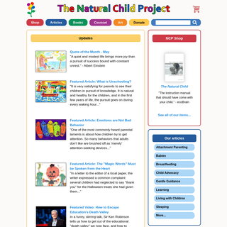 ArchiveBay.com - naturalchild.org - The Natural Child Project - Celebrating Attachment Parenting, Unschooling and Child Advocacy