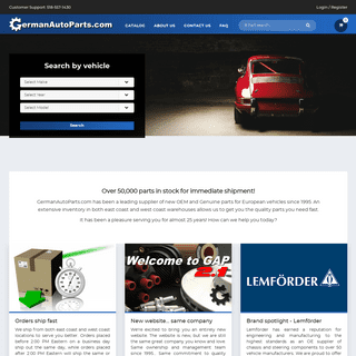 German Auto Parts - Genuine and OEM Replacement Car Parts Online - Audi VW BMW MINI Mercedes Porsche Saab Volvo - German Auto Pa