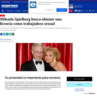 ArchiveBay.com - www.expreso.ec/ocio/tv/mikaela-spielberg-busca-obtener-licencia-trabajadora-sexual-5554.html - Mikaela Spielberg busca obtener una licencia como trabajadora sexual