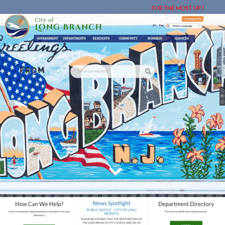 Welcome to the Official Website of Long Branch, NJ - home