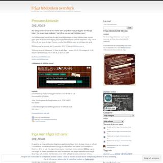 ArchiveBay.com - fragabiblioteket.wordpress.com - Fråga bibliotekets svarsbank - Ett arkiv med frågor och svar från den nu nedlagda frågetjänsten Fråga biblioteket