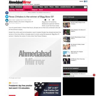ArchiveBay.com - ahmedabadmirror.indiatimes.com/entertainment/bollywood/paras-chhabra-is-the-winner-of-bigg-boss-13/articleshow/74132392.cms - Paras Chhabra is the winner of Bigg Boss 13-