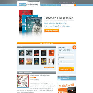Rent Audio Books on CD. Unlimited. Free trial - Simply Audiobooks