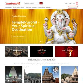 TemplePurohit - Your Spiritual Destination - Divine Blessings