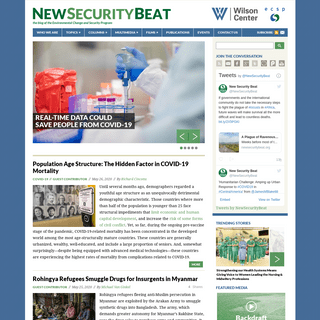 New Security Beat - The blog of the Wilson Center's Environmental Change and Security Program, with contributions from the Mat
