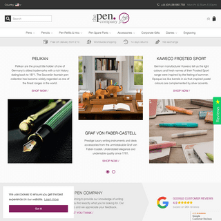 The Pen Company ✒ Designer Pens, Pencils, Inks and more...