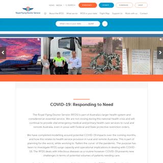 Royal Flying Doctor Service of Australia Homepage - Royal Flying Doctor Service