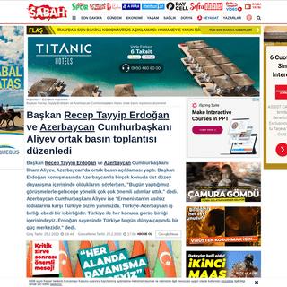 Başkan Recep Tayyip Erdoğan ve Azerbaycan Cumhurbaşkanı Aliyev ortak basın toplantısı düzenledi -...
