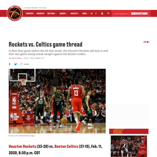 Rockets vs. Celtics game thread - The Dream Shake