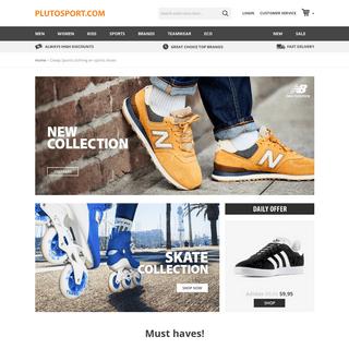 Cheap Sports clothing en sports shoes - Plutosport