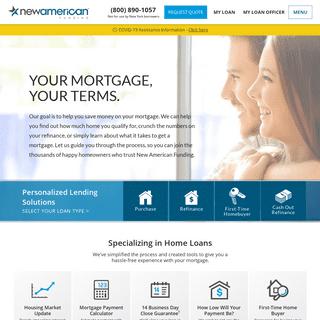 New American Funding - Mortgage Lender - Home Loans - Refinance
