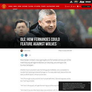 Ole team news for Man Utd v Wolves including Bruno Fernandes update - Manchester United