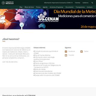 Centro Nacional de Metrología - Gobierno - gob.mx