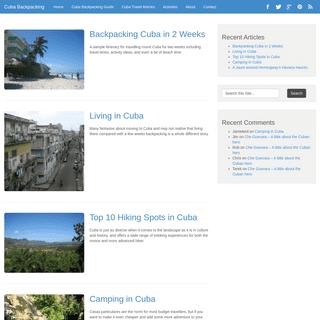 Cuba Backpacking - Backpacking in Cuba - Hotels - Tips