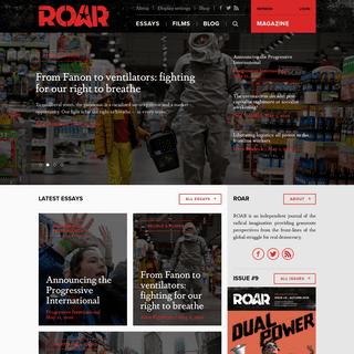 ROAR Magazine - Reflections on a Revolution