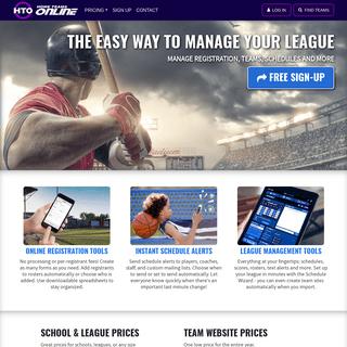 HomeTeamsONLINE - Websites, Stats, Registration & Schedule Tools for Sports Management