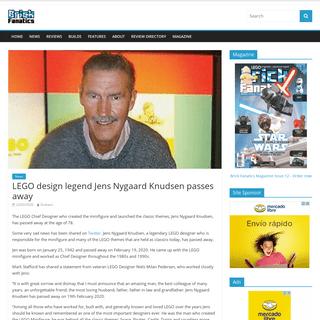LEGO design legend Jens Nygaard Knudsen passes away