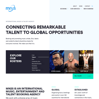 International Talent Booking & Promotion Agency - MN2S