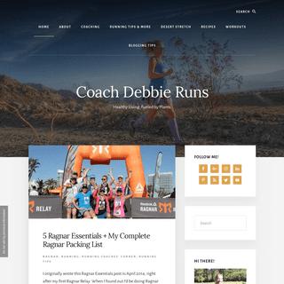 ArchiveBay.com - coachdebbieruns.com - - Running tips, workouts, plant based recipes for a healthy life - Coach Debbie Runs