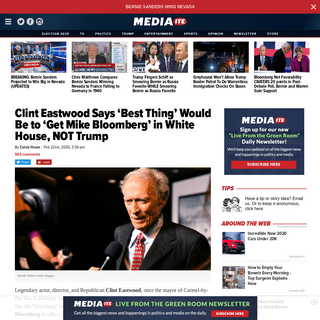 ArchiveBay.com - www.mediaite.com/politics/clint-eastwood-says-best-thing-would-be-to-get-mike-bloomberg-in-white-house-not-trump/ - Clint Eastwood Says Mike Bloomberg, Not Trump, 'Best' Choice