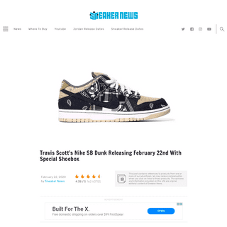 Travis Scott Nike SB Dunk Special Box Release - SneakerNews.com