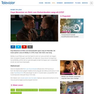 ArchiveBay.com - www.televizier.nl/amusement/faye-bezemer-en-rein-van-duivenboden-weg-uit-gtst - Faye Bezemer en Rein van Duivenboden weg uit GTST - Televizier.nl