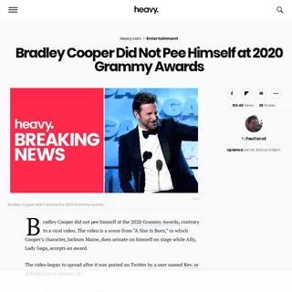 ArchiveBay.com - heavy.com/entertainment/2020/01/bradley-cooper-grammys-peed-himself/ - Bradley Cooper Did Not Pee Himself at 2020 Grammy Awards - Heavy.com