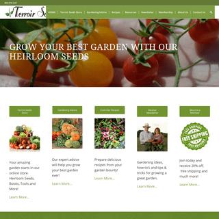Terroir Seeds - Underwood Gardens - Heirloom Seeds for Great Gardens