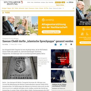 """Freispruch für 46-Jährigen- Sawsan Chebli durfte """"islamische Sprechpuppe"""" genannt werden - Politik - Stuttgarter Zeitung"""