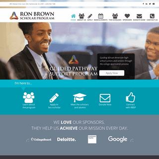 Ron Brown Scholar Program - Ron Brown Scholar Program