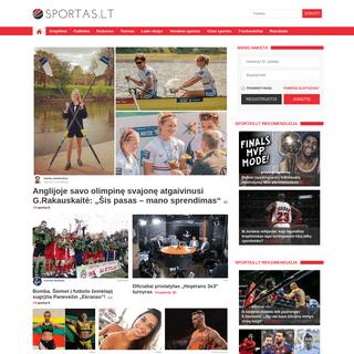 Sportas.lt - Krepšinis - Futbolas - Atletika - Ledo ritulys - Tenisas - Auto sportas - F-1 - - Sportas.lt