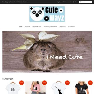 Cute Outfits for Girls & Women - T-Shirts, Hoodies, Tops & Accessories – Cute Wayz