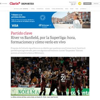 ArchiveBay.com - www.clarin.com/deportes/river-vs-banfield-superliga-hora-formaciones-verlo-vivo_0_rMQ0mEmx.html - River vs Banfield, por la Superliga- hora, formaciones y cómo verlo en vivo - Clarín