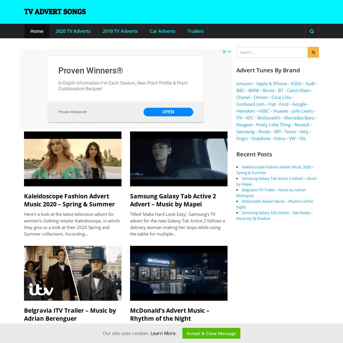ArchiveBay.com - tvadsongs.uk - TV Advert Songs – Find new UK TV advert music