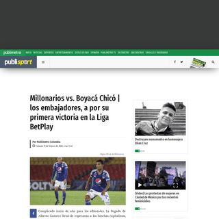 EN VIVO Millonarios VS Boyacá Chicó ONLINE GRATIS AHORA STREAMING Liga Betplay I-2020 (Hoy 15 de febrero) WIN Sports+ - Publim