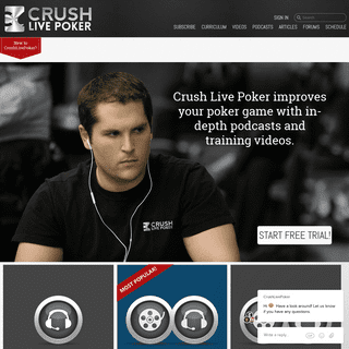Live Poker Training Videos, Podcasts, and Articles-Crush Live Poker