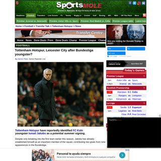ArchiveBay.com - www.sportsmole.co.uk/football/spurs/transfer-talk/news/spurs-leicester-after-bundesliga-youngster_389723.html - Tottenham Hotspur, Leicester City after Bundesliga youngster- - Sports Mole