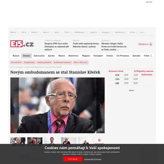 Novým ombudsmanem se stal Stanislav Křeček - E15.cz