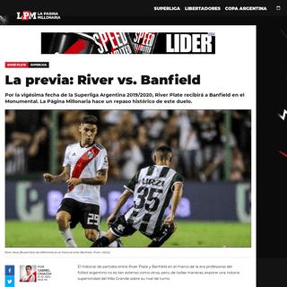 La previa- River vs. Banfield - River Plate - La Página Millonaria
