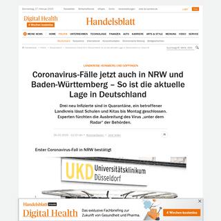 ArchiveBay.com - www.handelsblatt.com/politik/deutschland/landkreise-heinsberg-und-goeppingen-coronavirus-faelle-jetzt-auch-in-nrw-und-baden-wuerttemberg-so-ist-die-aktuelle-lage-in-deutschland/25584308.html - Coronavirus in Deutschland- Das ist die aktuelle Lage zu Covid-19