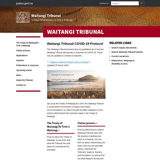 ArchiveBay.com - waitangitribunal.govt.nz - Waitangi Tribunal - Waitangi Tribunal