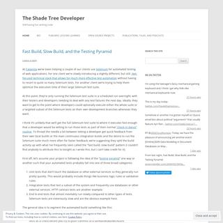 The Shade Tree Developer - Still having fun writing code