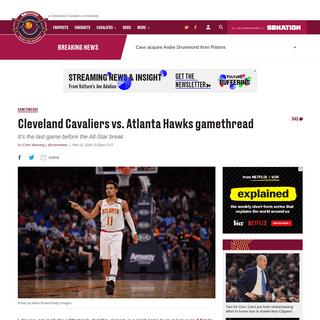 Cleveland Cavaliers vs. Atlanta Hawks gamethread - Fear The Sword